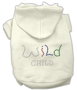 Wild Child Rhinestone Hoodies Cream S (10)